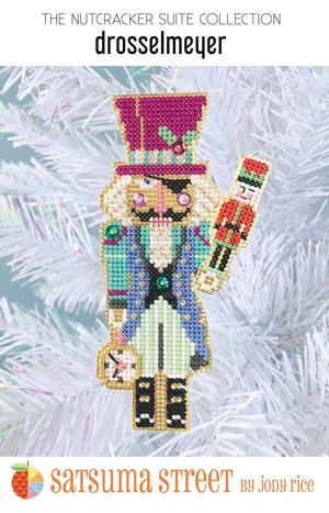 click here to view larger image of Drosselmeyer Nutcracker Ornament (counted cross stitch kit)