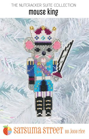 click here to view larger image of Mouse King Nutcracker Ornament (counted cross stitch kit)