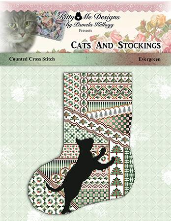 click here to view larger image of Cats and Stockings - Evergreen (chart)
