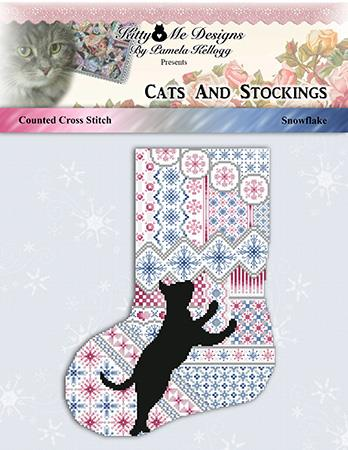 click here to view larger image of Cats and Stockings - Snowflake (chart)