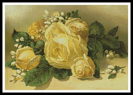 click here to view larger image of Golden Yellow Roses (chart)