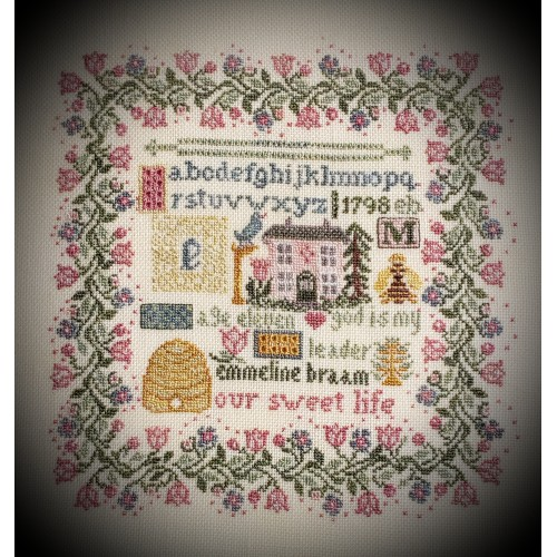 click here to view larger image of Emmeline Braam Belgium Reproduction Sampler (counted cross stitch kit)
