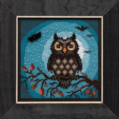Midnight Owl (2019) - click here for more details about counted cross stitch kit