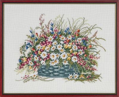 click here to view larger image of Late Summer Basket (counted cross stitch kit)