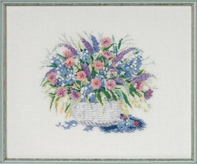 click here to view larger image of Basket with Flowers II (counted cross stitch kit)