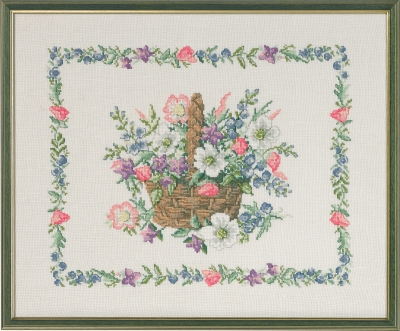 click here to view larger image of Basket with Flowers  (counted cross stitch kit)