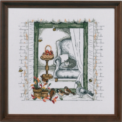 click here to view larger image of Fall Window (counted cross stitch kit)