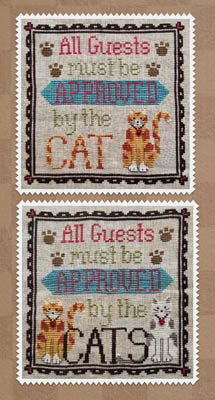 click here to view larger image of Cat Owner's Welcome (chart)