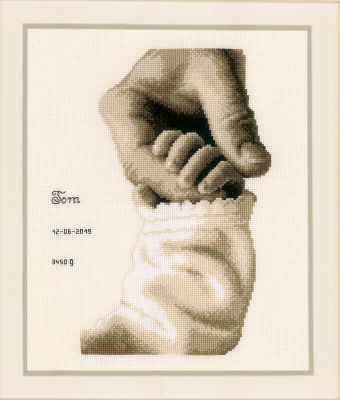 click here to view larger image of Baby Love (counted cross stitch kit)