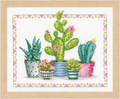 click here to view larger image of Plant Corner, A (counted cross stitch kit)