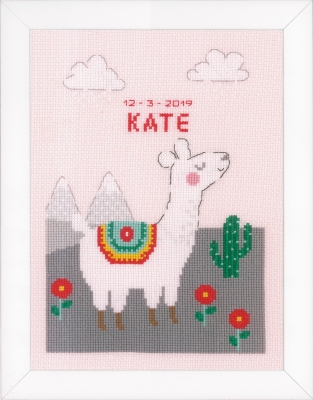 click here to view larger image of Lovely Llama (counted cross stitch kit)