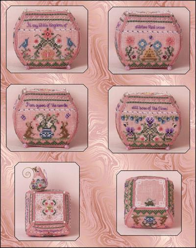 click here to view larger image of Still Queen of the Needle (embellishments included) (chart with charms/buttons)