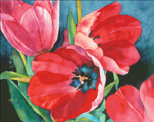 click here to view larger image of 3 Red Tulips (chart)