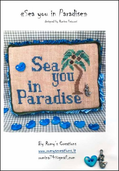 click here to view larger image of Sea You In Paradise (chart with charms/buttons)