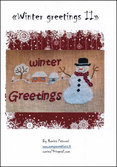 click here to view larger image of Winter Greetings II (chart)