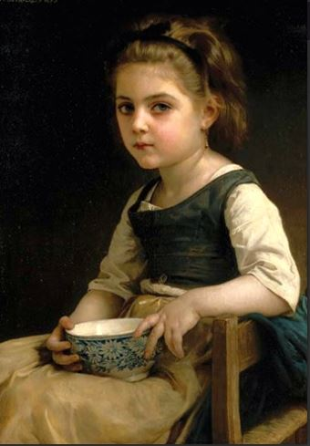 click here to view larger image of Girl with Blue Bowl (chart)