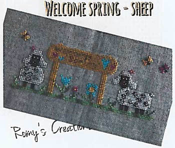 click here to view larger image of Welcome Spring Sheep  (chart)