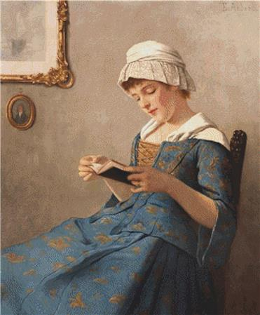 click here to view larger image of Young Woman Reading (chart)