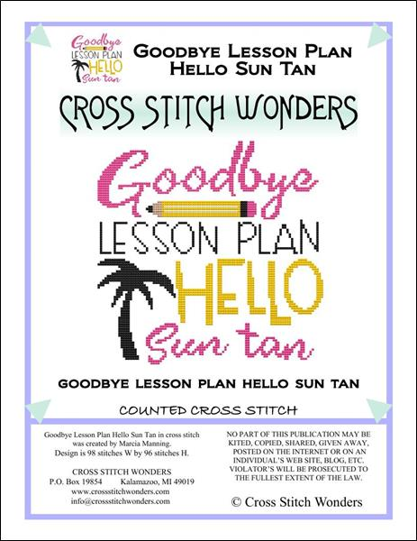 click here to view larger image of Schools Out - Goodbye Lesson Plan Hello Sun Tan (chart)
