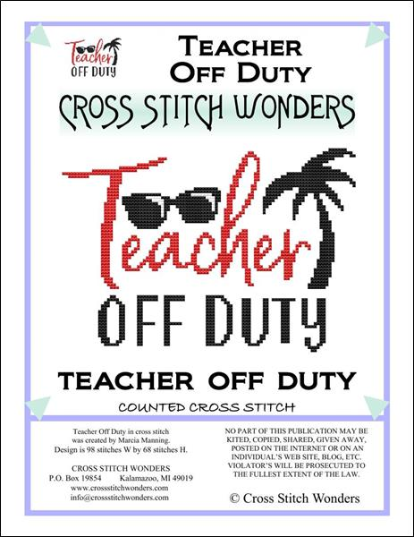 click here to view larger image of Schools Out - Teacher Off Duty (chart)