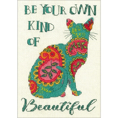 click here to view larger image of Paisley Cat (counted cross stitch kit)
