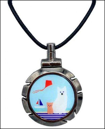 click here to view larger image of Cats at the Shore Thread Cutter Pendant (accessory)