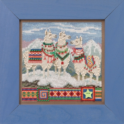 click here to view larger image of Fa La La Llamas (2019) (counted cross stitch kit)