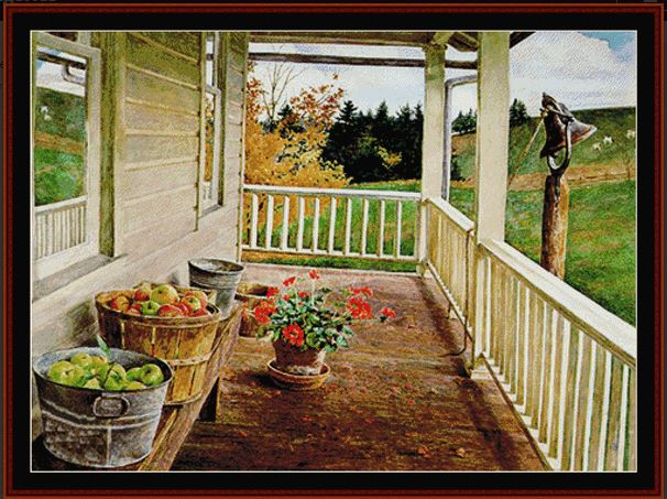 click here to view larger image of Autumn Porch (chart)