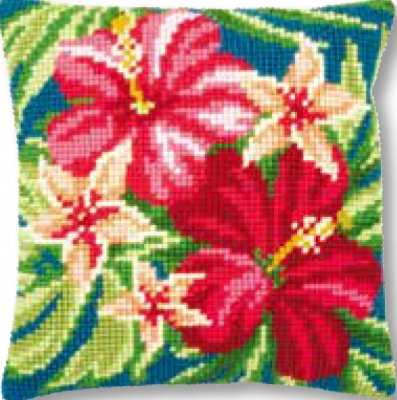 click here to view larger image of Botanical Flowers - Cushion (needlepoint)