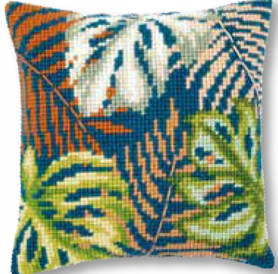click here to view larger image of Botanical Leaves - Cushion (needlepoint)