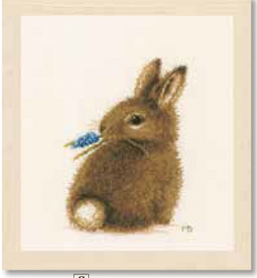 click here to view larger image of Bunny (counted cross stitch kit)