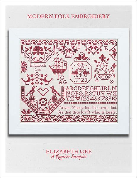 click here to view larger image of Elizabeth Gee A Quaker Sampler (chart)