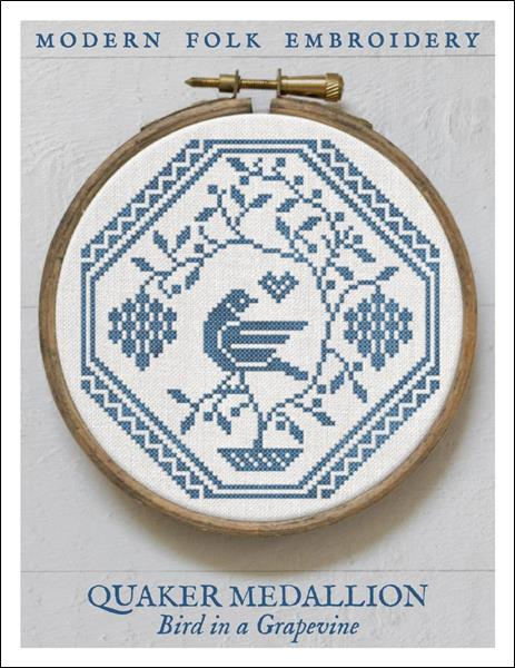 click here to view larger image of Quaker Medallion - Bird in a Grapevine (chart)