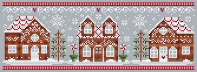 click here to view larger image of Gingerbread House - Full set of 3 designs  (chart)