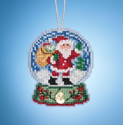 click here to view larger image of Santa Globe (2019) (counted cross stitch kit)