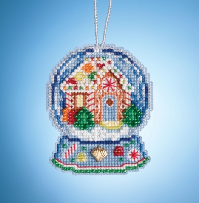 click here to view larger image of Gingerbread House Globe (2019) (counted cross stitch kit)