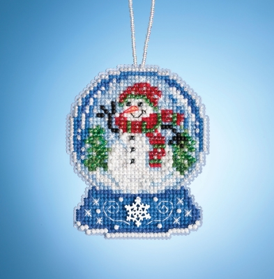 click here to view larger image of Snowman Globe (2019) (counted cross stitch kit)