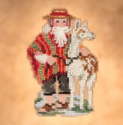 click here to view larger image of Andes (2019) - South American Santas (counted cross stitch kit)