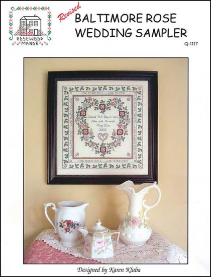 click here to view larger image of Baltimore Rose Wedding Sampler - Revised (chart)