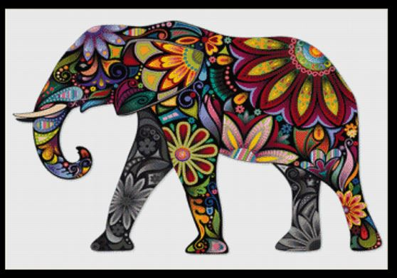 click here to view larger image of Elephant Mandala IV  (chart)