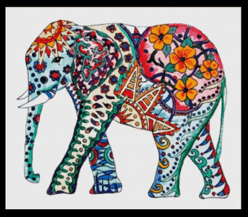 click here to view larger image of Elephant Mandala II (chart)