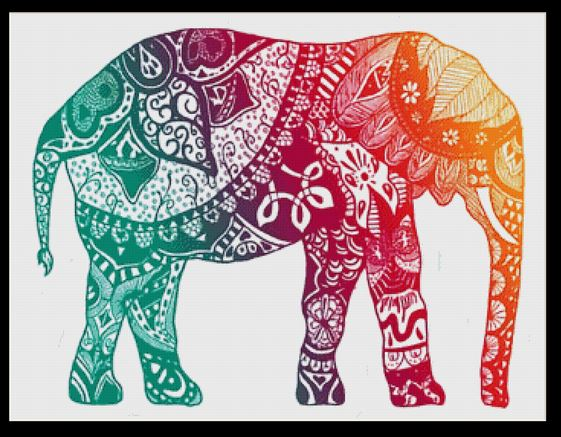 click here to view larger image of Elephant Mandala I (chart)
