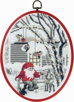 click here to view larger image of Elf in Garden (counted cross stitch kit)
