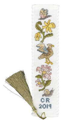 click here to view larger image of Daffodil and Honeysuckle Bookmark (counted cross stitch kit)