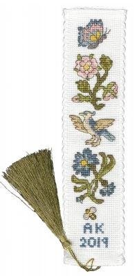click here to view larger image of Rose & Cornflower Bookmark (counted cross stitch kit)