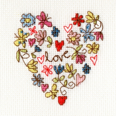 click here to view larger image of Sweet Heart Card  (counted cross stitch kit)
