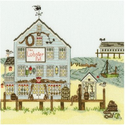 click here to view larger image of Lobster Pot, The - New England (counted cross stitch kit)