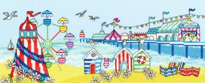 click here to view larger image of Pier Fun (counted cross stitch kit)