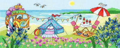 click here to view larger image of Glamping Fun (counted cross stitch kit)