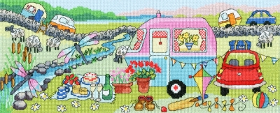 click here to view larger image of Caravan Fun - Julia Rigby (counted cross stitch kit)
